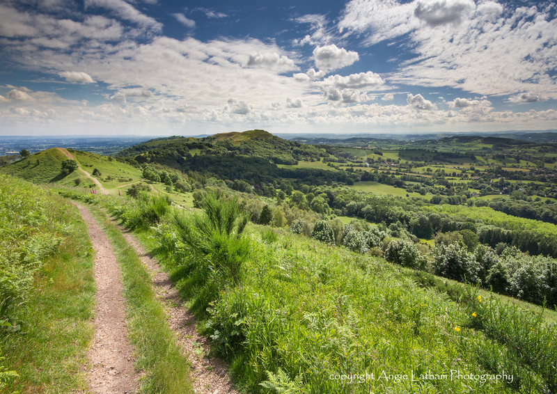 Towards British Camp - The Malvern Hills