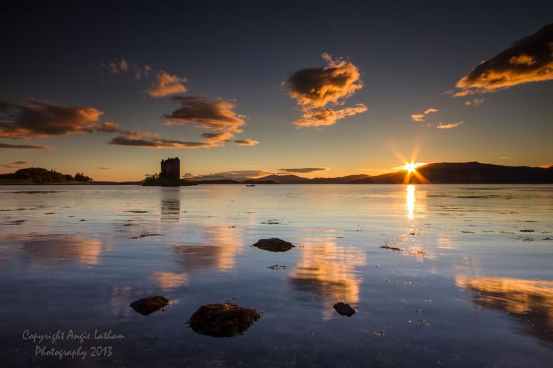 Castle Stalker Sunset - Highlands of Scotland
