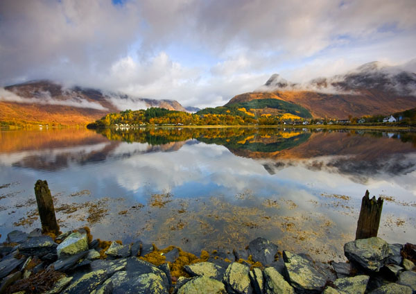 Loch Leven Autumn Reflections - Highlands of Scotland
