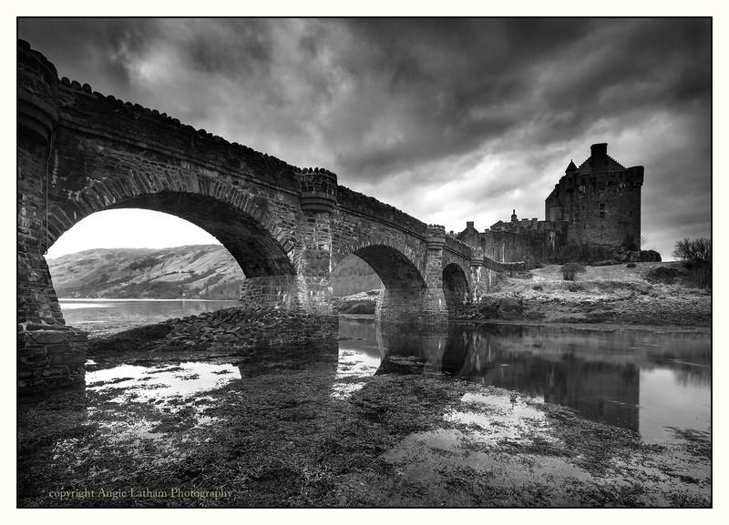 Eilean Donan Castle 2 - Highlands BW - Black & White