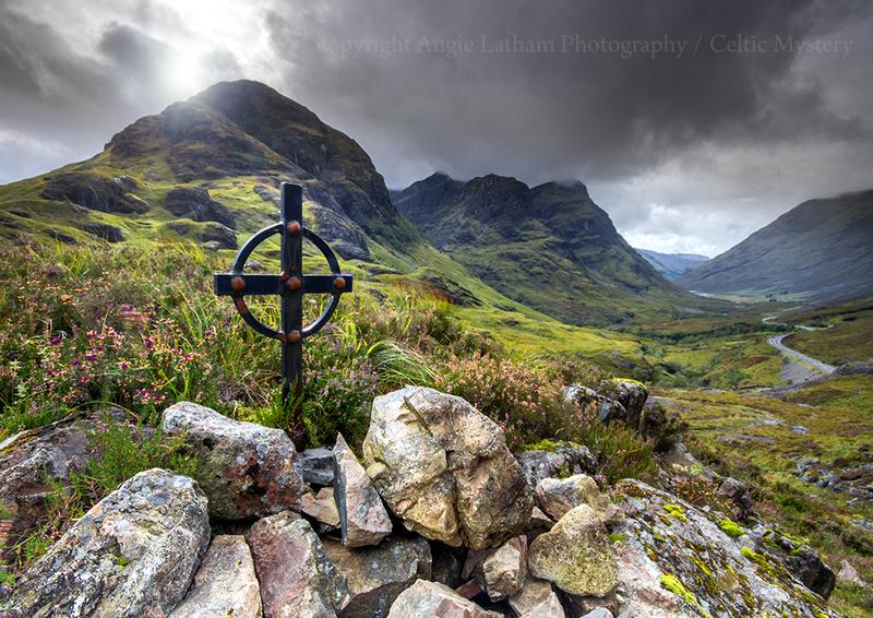 Celtic Cross , Glencoe - Highlands of Scotland