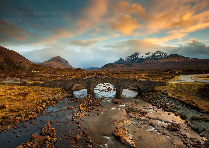 Sligachan Bridge Sunset - Isle of Skye