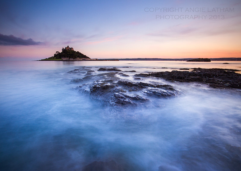 St. Michael's Mount Sunset - Celtic Cornwall