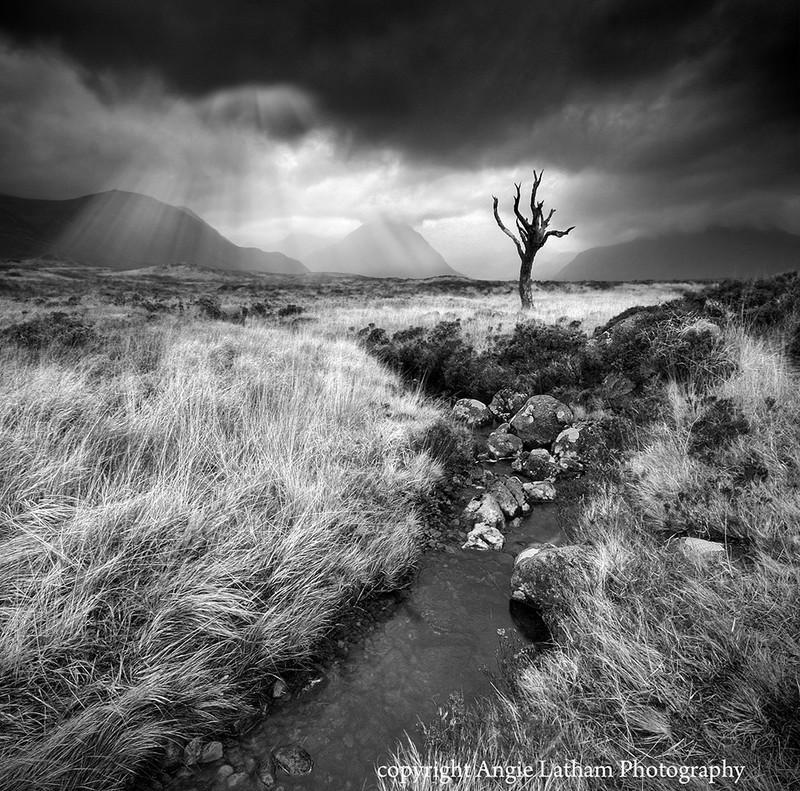 BW005 Towards Glencoe Rannoch Moor - Scotland in Black & White