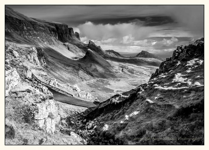 The Quiraing - Skye BW - Black & White