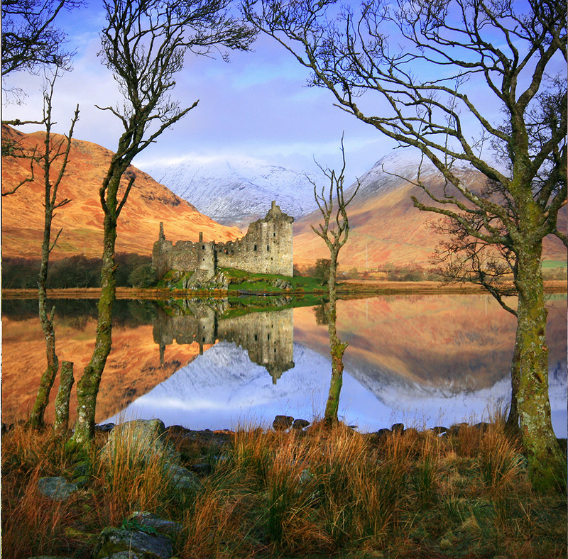 PS093 Kilchurn Castle Reflections - Scottish Landscapes