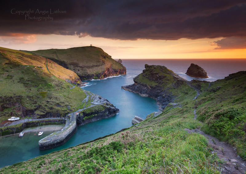 Boscastle Sunset - Celtic Cornwall