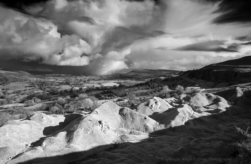 Brecon Escarpment 2 - Black & White