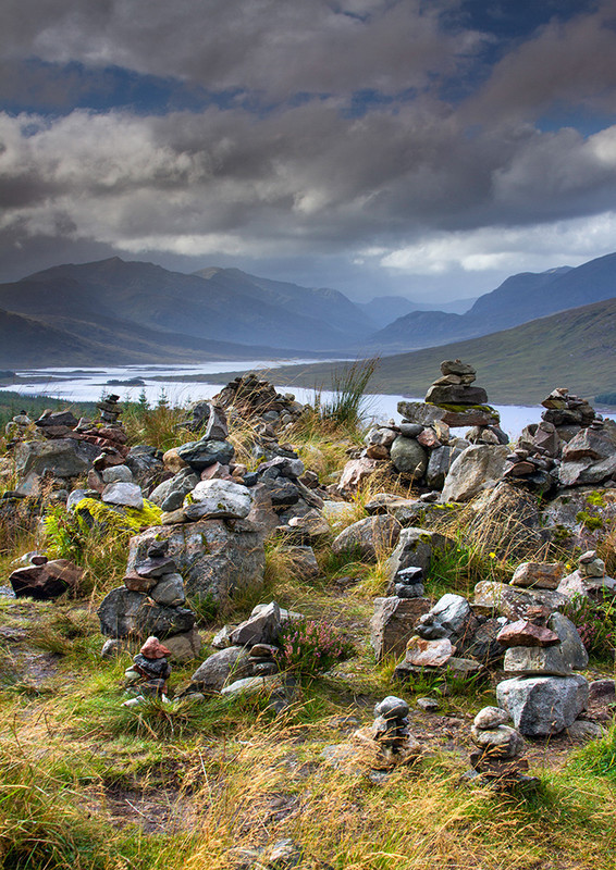 Glen Garry Cairns (portrait) - Highlands of Scotland