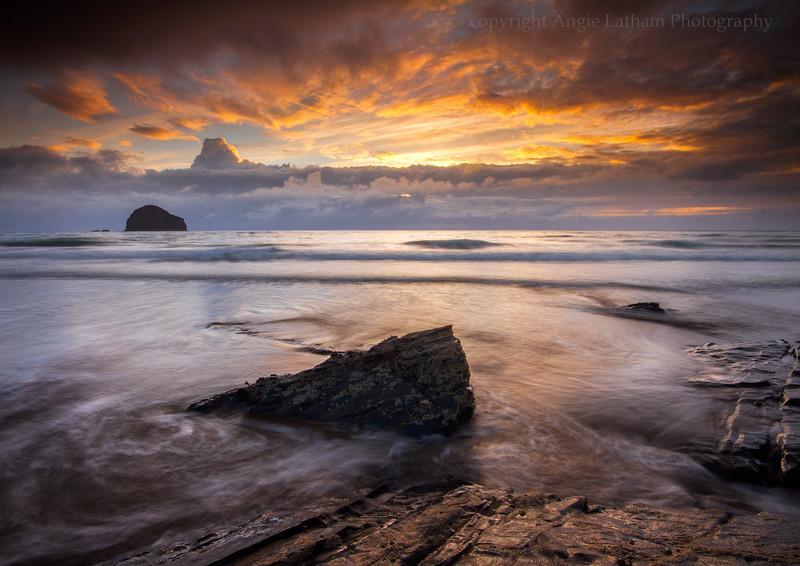 Trebarwith Sunset - Celtic Cornwall