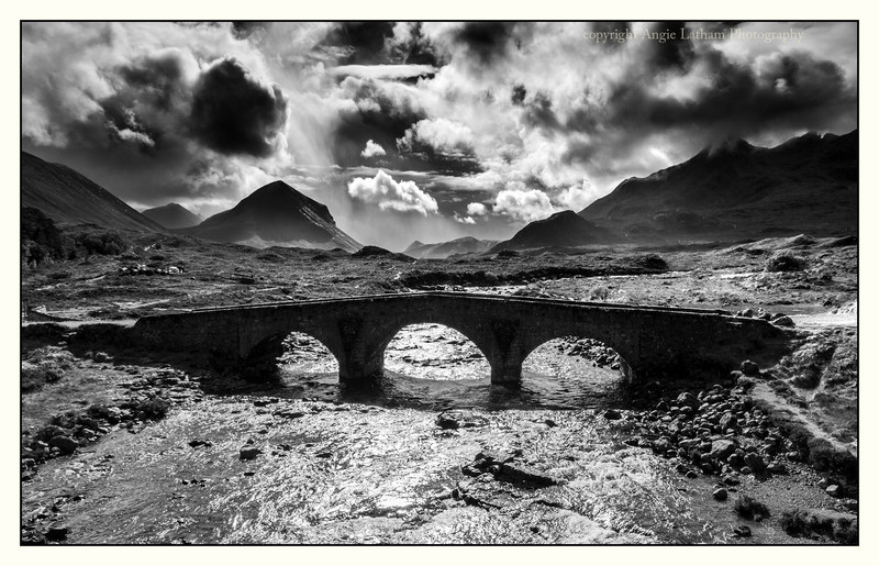 Sligachan Bridge - Skye BW - Black & White