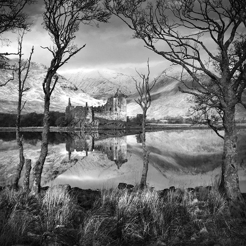 BW003 Kilchurn Castle, Loch Awe - Scotland in Black & White