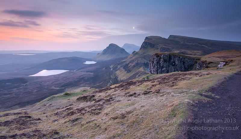 Moon set over Trotternish - Isle of Skye
