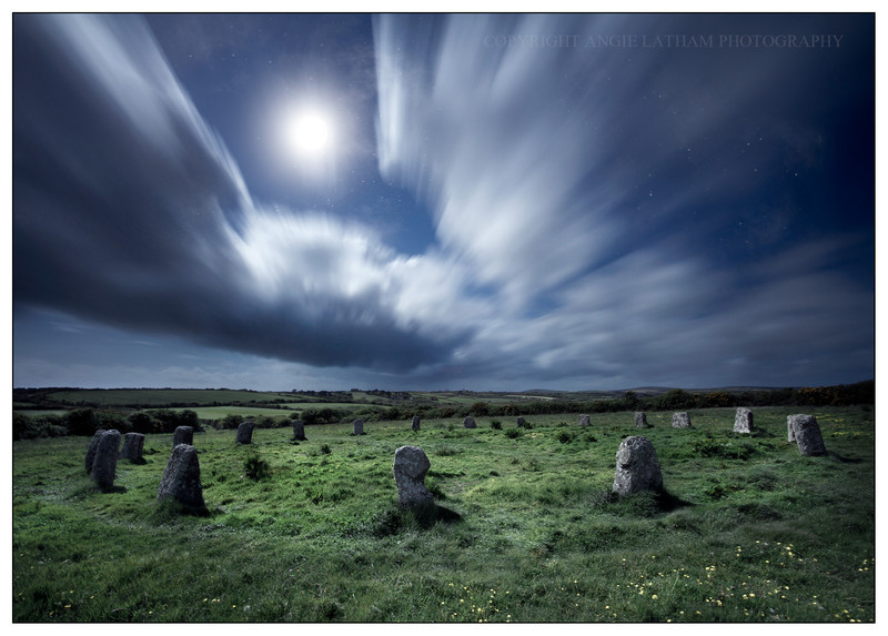 The Merry Maidens by Moonlight - Ancient Sites
