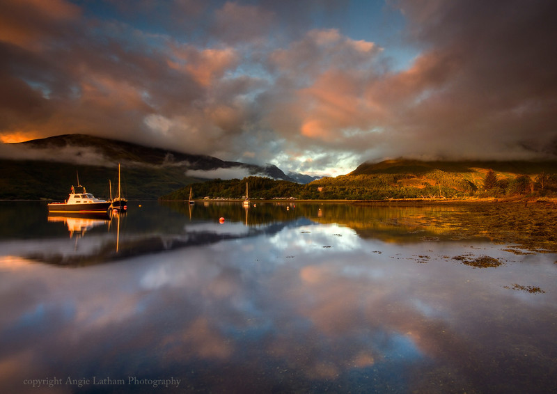 Evening Reflections on Loch Leven - Highlands of Scotland