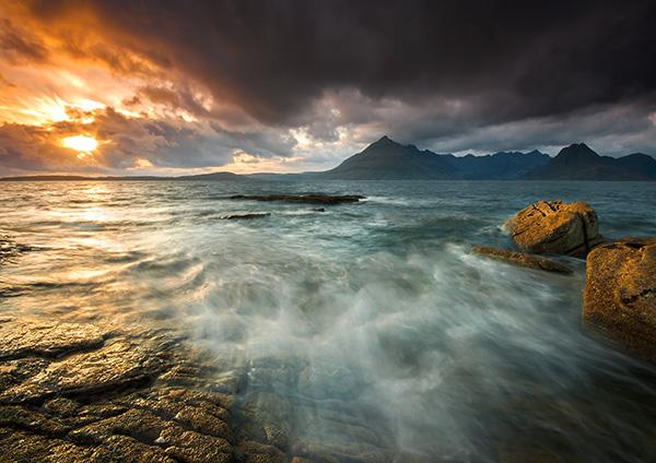 Elgol sunburst - Isle of Skye