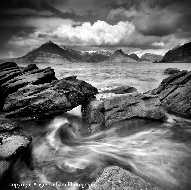 BW008 The Black Cuillin Isle of Skye - Scotland in Black & White