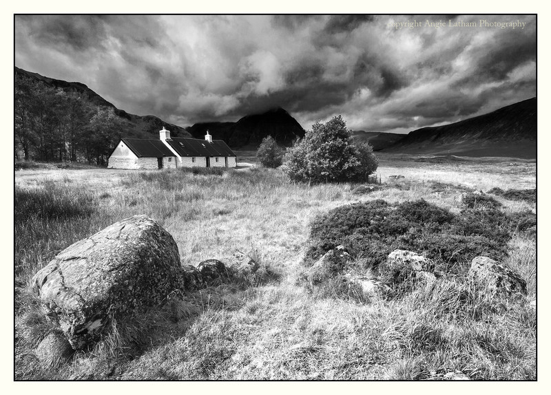 Blackrock Cottage - Glencoe  BW - Black & White
