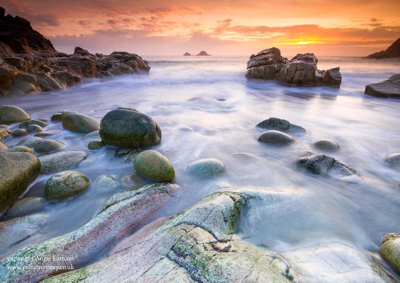 Porth Nanven Sunset 2 - Celtic Cornwall