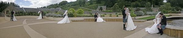 Rooftop Wedding Panorama - Wedding & Portrait Images
