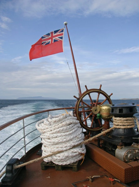 Sea Astern - PS Waverley