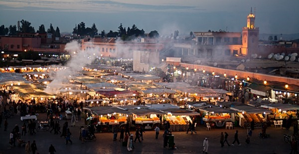 Food vendors, Place Jemaa el Fna (6667) - Morocco
