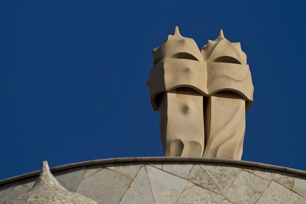 Gaudi's chimneys, Casa Mila, Barcelona (MG_7024a) - The Mediterranean and Europe