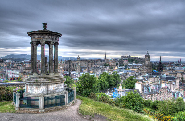 Edinburgh Skyline from Calton Hill - Card Sales
