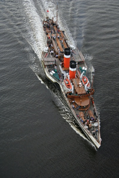 PS Waverley Aerial View - PS Waverley