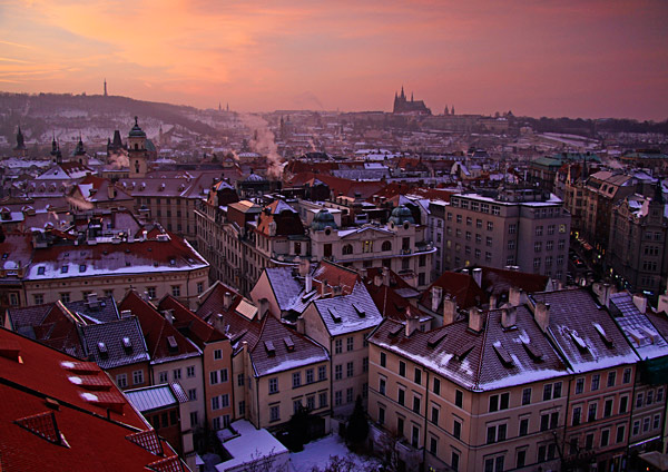 Rooftops of Prague by Charlotte Brett LRPS