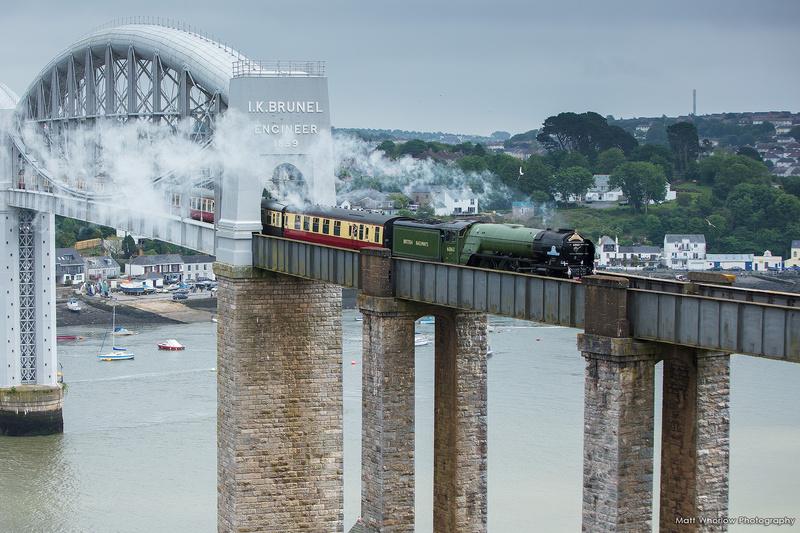 Tornado crossing Royal Albert Bridge - Cornish Towns