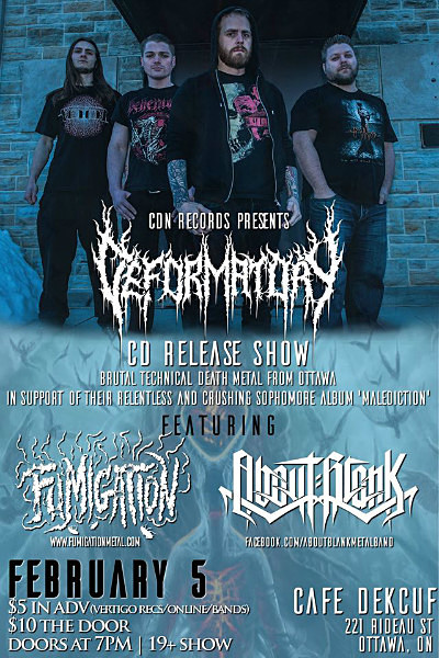 Deformatory feb 5th 2016 - Flyers