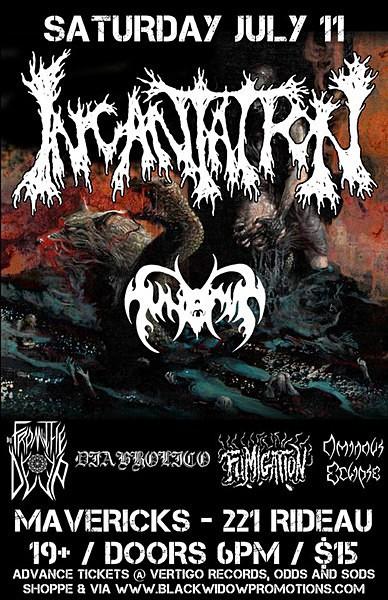 Incantation July 2015 - Flyers