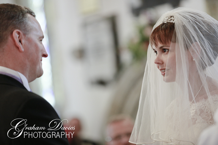 Bride & Groom at ceremony at Wedding at St. Hilary - Wedding Photography at St. Hilary