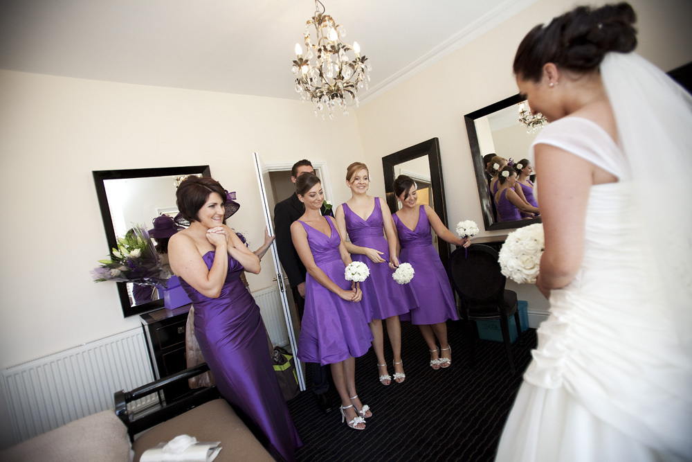 Bride and Bridemaids at Bear Hotel, Cowbridge - Wedding Photography at The Bear Hotel, Cowbridge