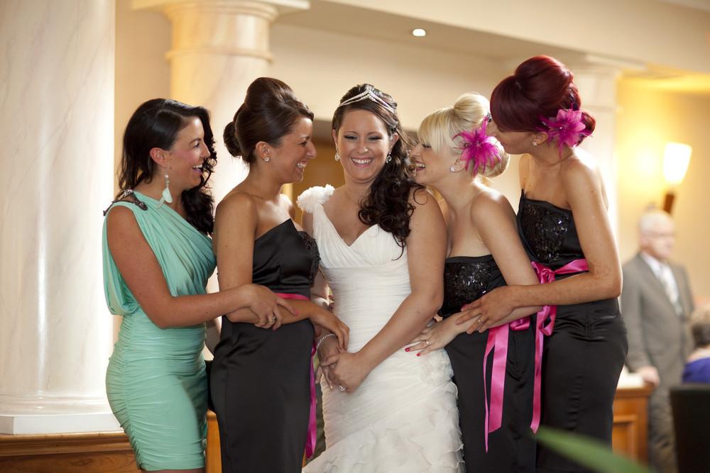 Bride & Best Friends at Bryn Meadows - Wedding Photography at Bryn Meadows Golf & Country Club