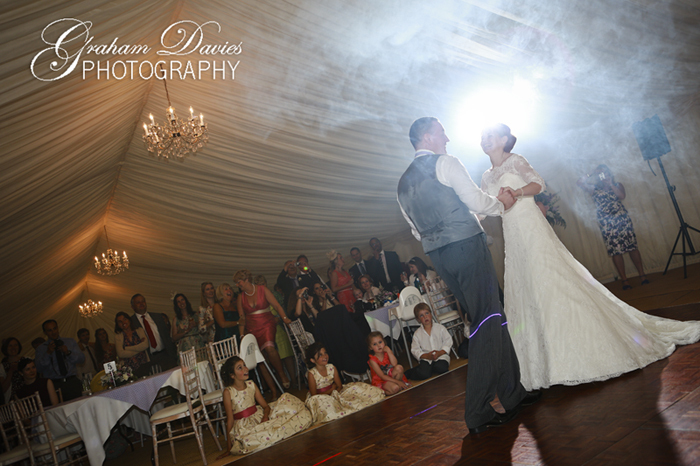 Bride & Groom at First Dance at Wedding at St. Hilary - Wedding Photography at St. Hilary