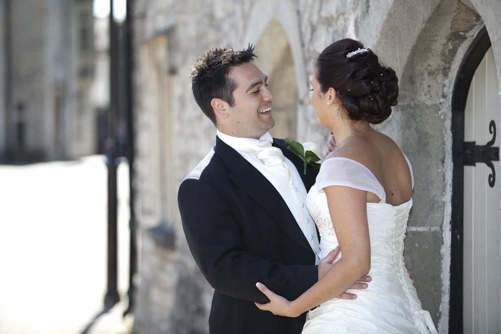 Bride and Groom at Bear Hotel, Cowbridge - Wedding Photography at The Bear Hotel, Cowbridge