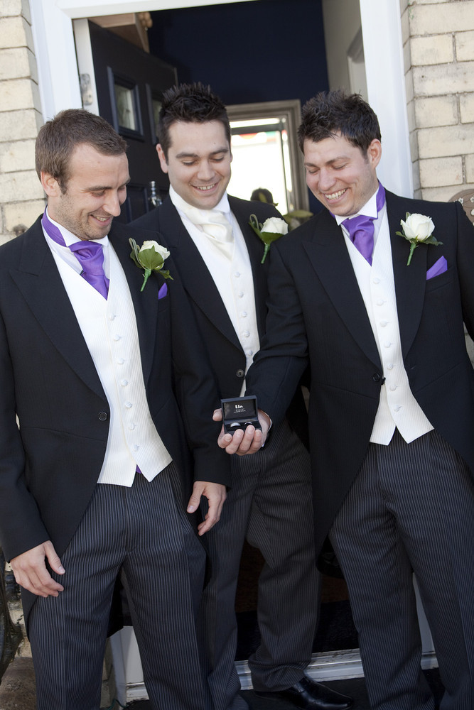 Groom and Groomsmen at Bear Hotel, Cowbridge - Wedding Photography at The Bear Hotel, Cowbridge