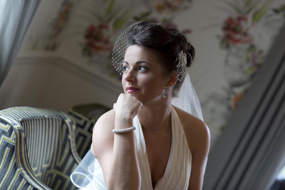 Bride at Coed y Mwstwr Hotel, Bridgend - Wedding Photography at Coed y Mwstwr Hotel