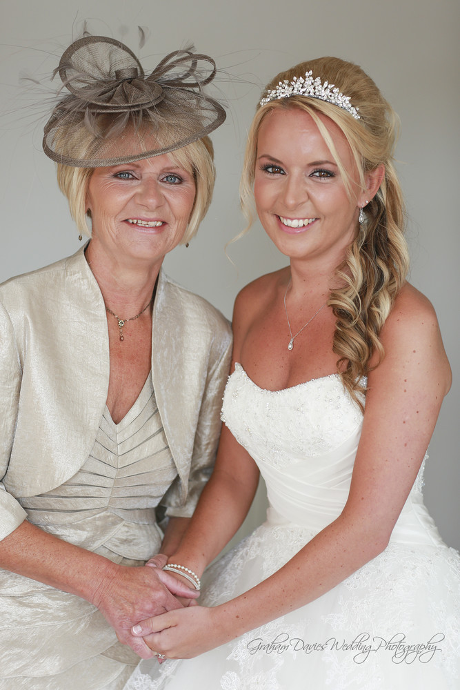 Miskin Manor Bride & Mother photograph - Wedding Photography at Miskin Manor