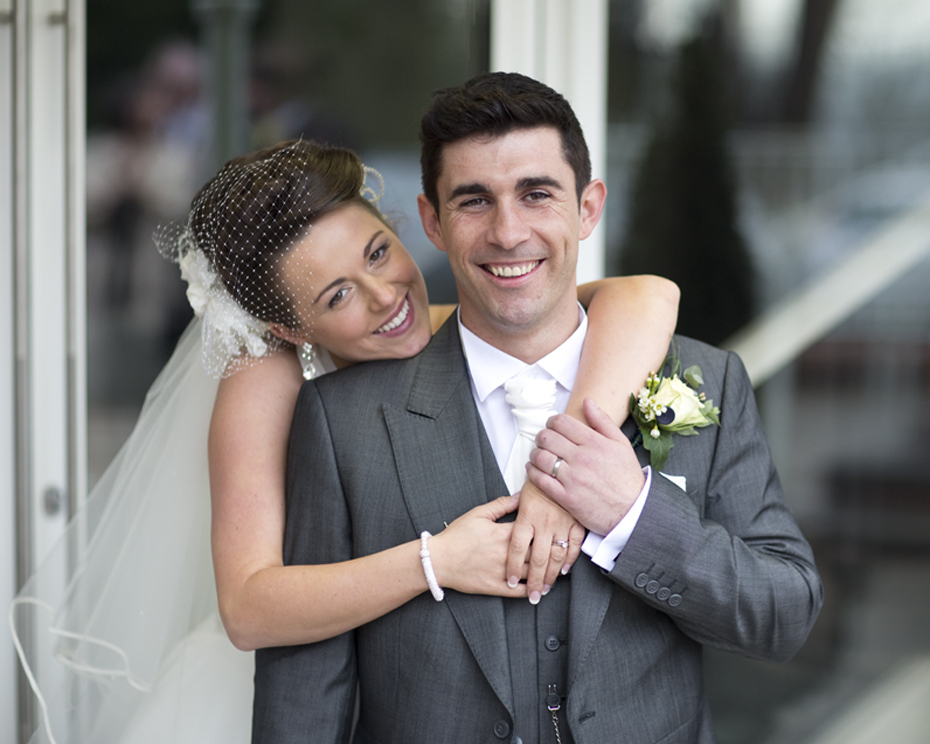 Bride & Groom at Coed Y Mwstwr Hotel, Bridgend - Wedding Photography at Coed y Mwstwr Hotel