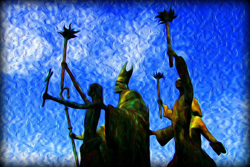 Prayer Procession - Photo Art