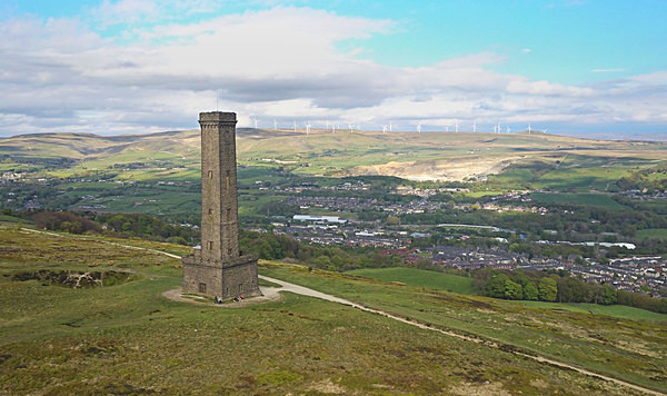 Peel Tower Sir Robert Peel Ramsbottom  Holcombe Tower  Harcles Hill