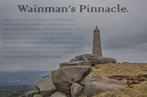 Wainman's Pinnacle.village of Cowling