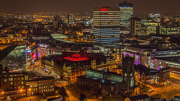 manchester at night urbex urban exploration betham tower manchester skyline Salford One Greengate