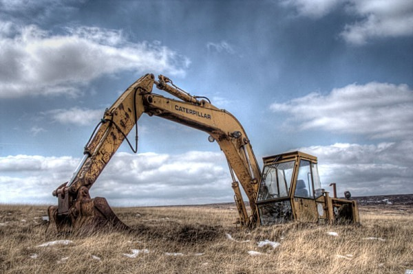 caterpillar digger excavator