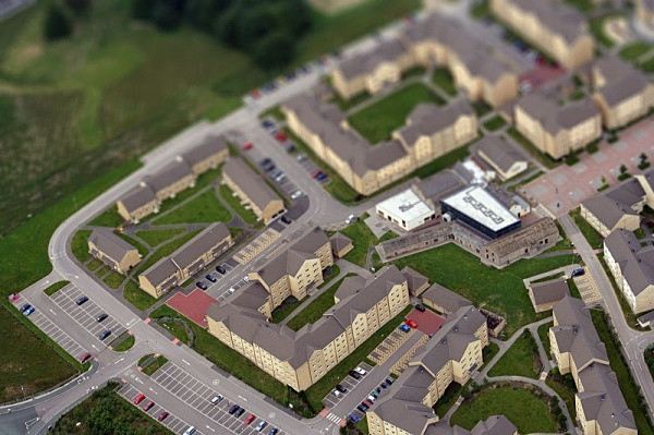 More tilt and  shift of Lancaster Uni - Photoshop Work