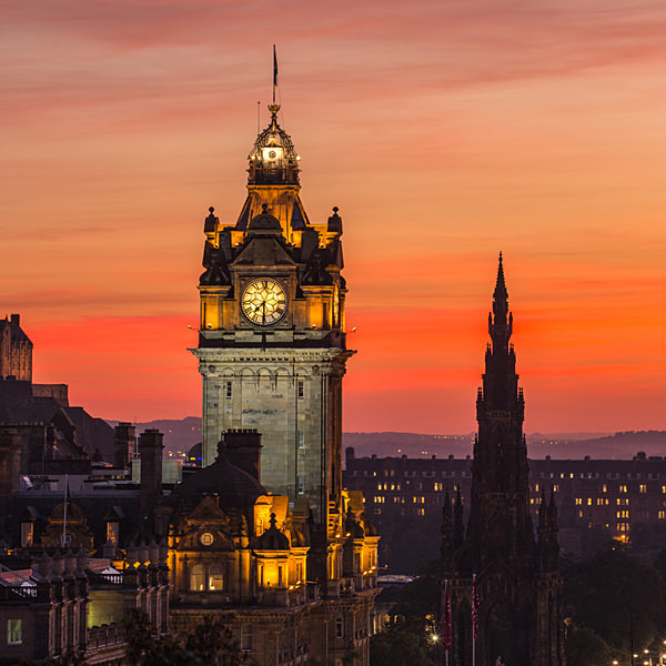 The Balmoral and Scott Monument from Calton Hill - Edinburgh (Auld Reekie)