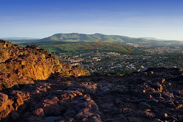 The Pentlands from Arthur's Seat - Edinburgh (Auld Reekie)